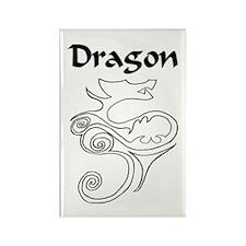 Tanya Dragon Rectangle Magnet