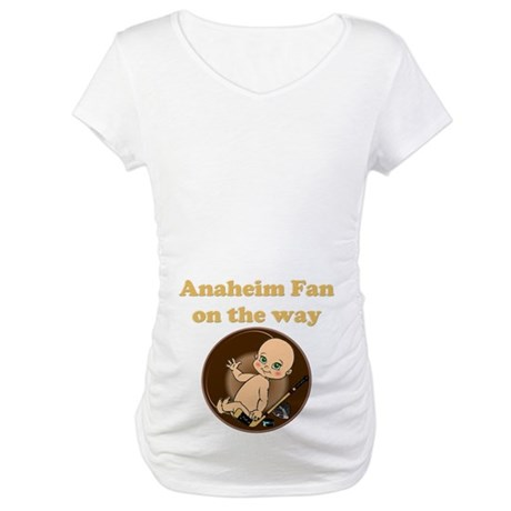 Anaheim Fan on the way Maternity T-Shirt