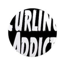"Curling addict 3.5"" Button"