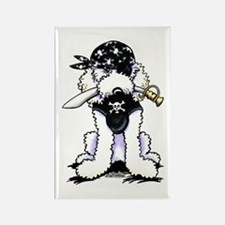 Poodle Pirate Rectangle Magnet