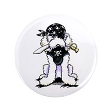 "Poodle Pirate 3.5"" Button"