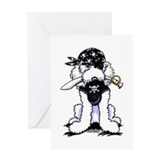 Poodle Pirate Greeting Card