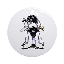 Poodle Pirate Ornament (Round)