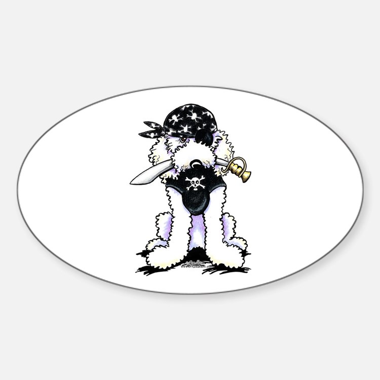 Poodle Pirate Decal