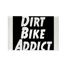 Dirt Bike Addict Rectangle Magnet