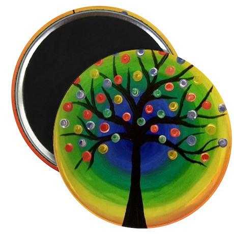 Happy Rainbow Tree Magnet
