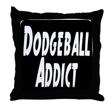 Dodgeball Addict Throw Pillow