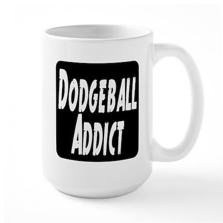 Dodgeball Addict Large Mug