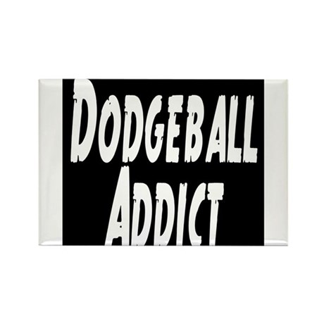 Dodgeball Addict Rectangle Magnet
