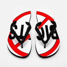 Anti / No Bigots Flip Flops