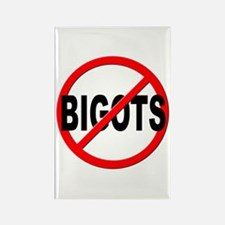 Anti / No Bigots Rectangle Magnet (100 pack)