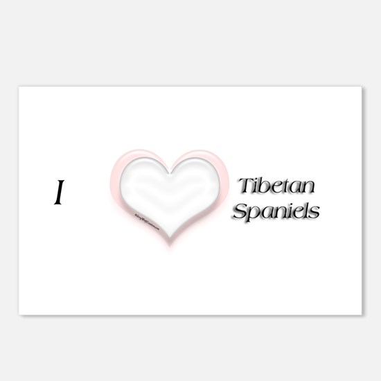 I heart Tibetan Spaniels Postcards (Package of 8)