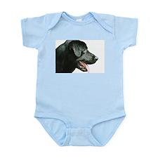 Black Lab Head Infant Bodysuit