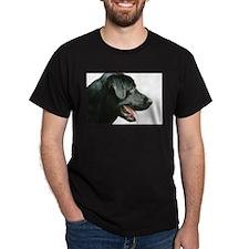 Black Lab Head T-Shirt