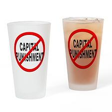 Anti / No Capital Punishment Drinking Glass
