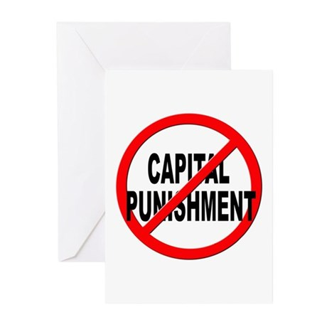 Anti / No Capital Punishment Greeting Cards (Pk of