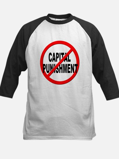Anti / No Capital Punishment Kids Baseball Jersey