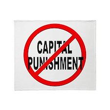 Anti / No Capital Punishment Throw Blanket