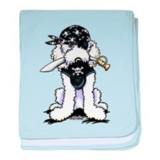 Poodle Pirate baby blanket