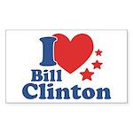 I Love Bill Clinton Sticker (Rectangle 10 pk)