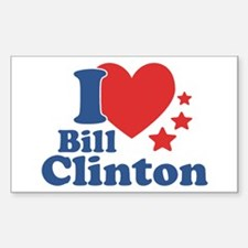 I Love Bill Clinton Sticker (Rectangle)
