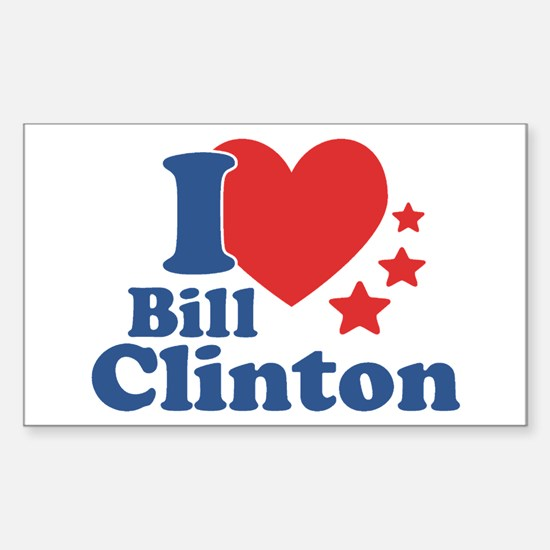 I Love Bill Clinton Sticker (Rectangle)