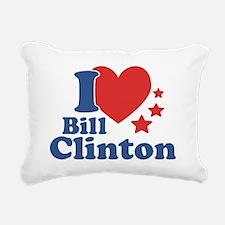 I Love Bill Clinton Rectangular Canvas Pillow
