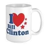 I Love Bill Clinton Large Mug