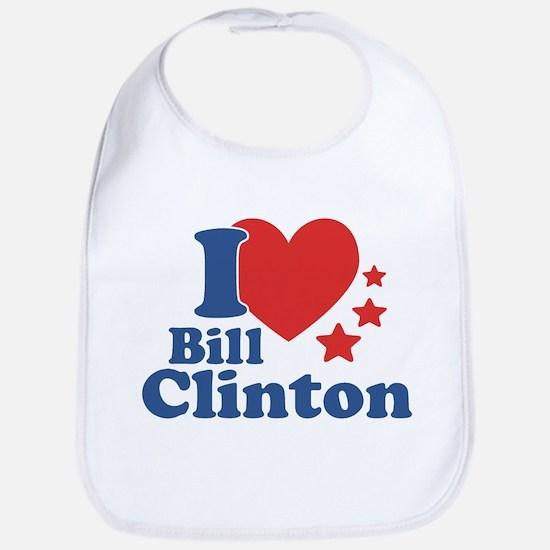 I Love Bill Clinton Bib
