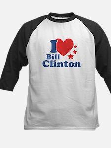 I Love Bill Clinton Kids Baseball Jersey
