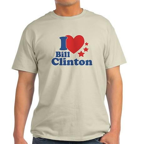 I Love Bill Clinton Light T-Shirt