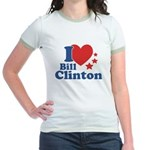 I Love Bill Clinton Jr. Ringer T-Shirt