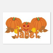 Halloween Pumpkin Janet Postcards (Package of 8)