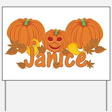 Halloween Pumpkin Janice Yard Sign