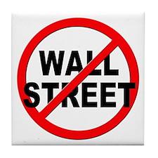 Anti / No Wall Street Tile Coaster