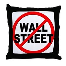 Anti / No Wall Street Throw Pillow