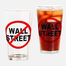 Anti / No Wall Street Drinking Glass