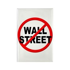 Anti / No Wall Street Rectangle Magnet (100 pack)