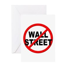 Anti / No Wall Street Greeting Card