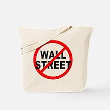 Anti / No Wall Street Tote Bag