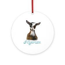 Nigerian Goat Nikki Ornament (Round)