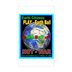 Earth Ball .org Rectangle Decal