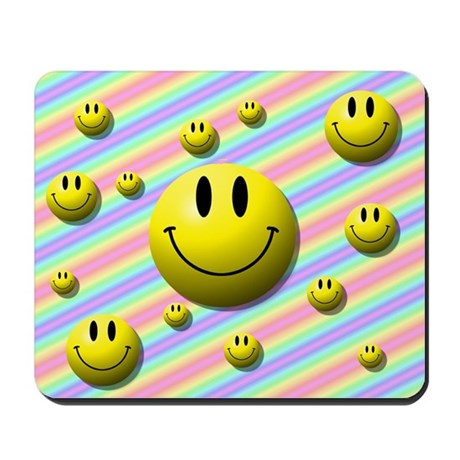 Lots of Smileys Mousepad