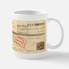 Antique Cafe Receipt Mug