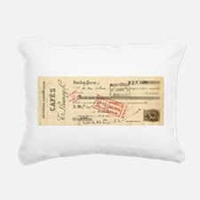 Antique Cafe Receipt Rectangular Canvas Pillow