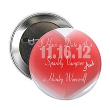 "Date with a Vampire and a Werewolf 2.25"" Button"