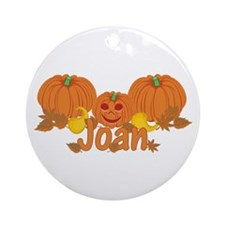 Halloween Pumpkin Joan Ornament (Round)