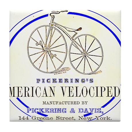 Pickering's American Velocipede Tile Coaster