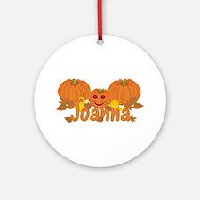 Halloween Pumpkin Joanna Ornament (Round)