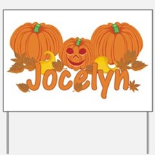Halloween Pumpkin Jocelyn Yard Sign
